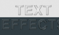 Photoshop Glassy Text Effects