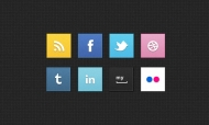 Social Square Icons