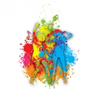 Colorful Dance Vector Graphic