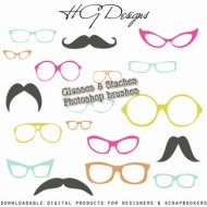Free Glasses and Staches Brushes !