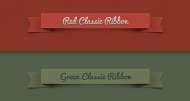Psd Ribbon Classic Set  