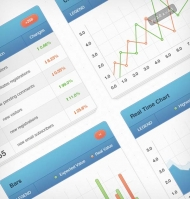 Website Statistics Chart Freebie (psd)
