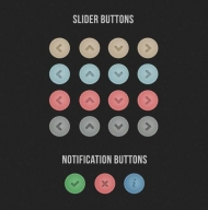 Simple Slider Buttons + Three Bonus Buttons – Freebie