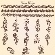 Vintage Designs ( Lace Patterns ) - Vector Free