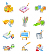 Art and Design Supplies category vector
