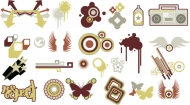 Vector design elements tide -30