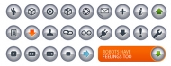 N-chrome crystal texture of the small icon (the button) vect