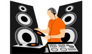 DJ and DJ music equipment Vector material