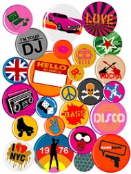 Trend badge element vector material