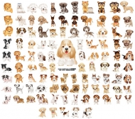 105, paragraph adorable puppy version of Vector material