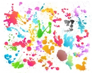 Material element of colorful ink Album