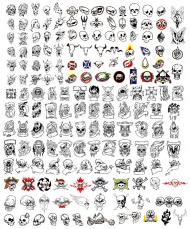 171 models and all kinds of skull vector material