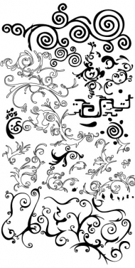 Practical black and white pattern vector material