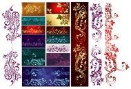 A variety of gorgeous pattern vector material