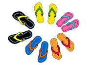 Slippers Vector material