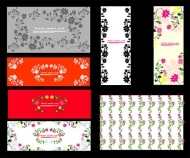 Beautifully decorated small pattern vector material