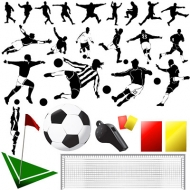 Vector elements of the theme of football material