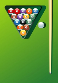 Billiard motion vector material