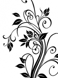Exquisite black and white pattern vector material