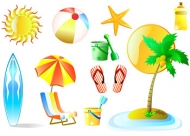 Summer Beach Leisure Products vector material