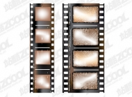 Old film negatives vector material