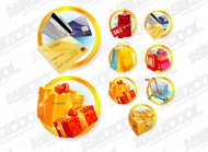 Shopping icon vector material