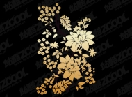 Practical flower pattern vector material