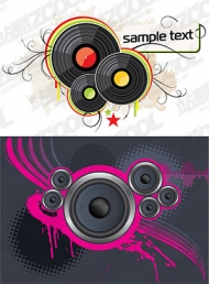 Speaker and vinyl vector material