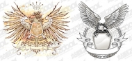 2 Continental Eagle Pattern Vectors
