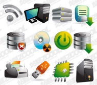 12 three-dimensional computer icon vector material