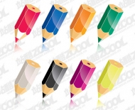Color pencil Vector material -2