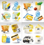 Beautiful icon vector material -2