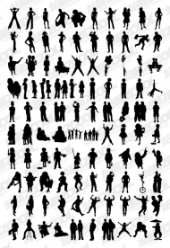 1000 albums of various silhouettes vector material -4