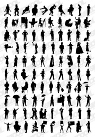 1000 albums of various silhouettes vector material -5