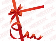 Red Ribbon bow vector packaging material