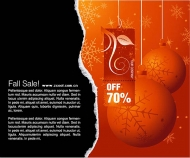 Discount to the theme of winter vector material