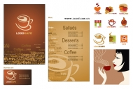Coffee Theme Vector material