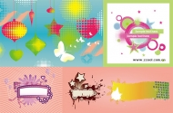 5, the trend of design elements vector material
