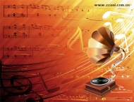 Classical music vector material
