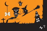 Halloween Ghost Vector material