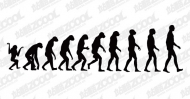Of human evolution vector material