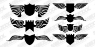 Wings Shield Vector material