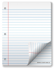 A blank Notepad Paper Vector material