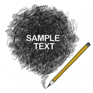 Pencil strokes Vector material