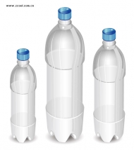 Empty bottle Vector material