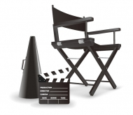 Director chair Vector material