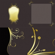 4 gold lace pattern vector material