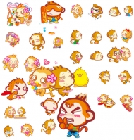Yau Hei cute monkey yoci expression vector material