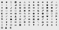 Simple graphic decorative material -1 Vector Icons