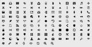Simple graphic decorative material -2 Vector Icons